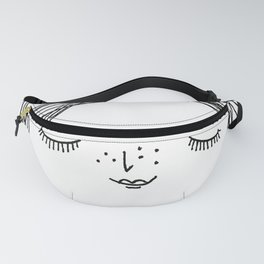 Girly Line Drawing Fanny Pack