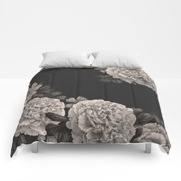 Flowers on a winter night Comforters
