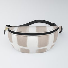 Brush Strokes Vertical Lines Nude on Off White Fanny Pack