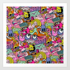 Doodles gone wild Art Print