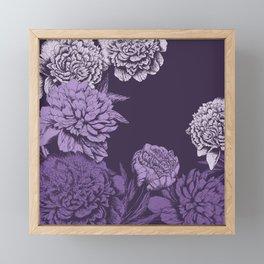 VIOLET FLORAL SYMPHONY Framed Mini Art Print