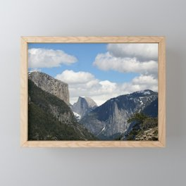 Yosemite Valley, Tunnel View with El Capitan, Half Dome and Bridalveil Fall Framed Mini Art Print