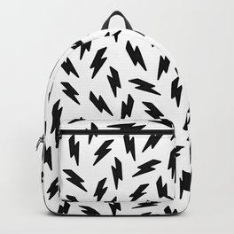 Black and white thunderbolt Backpack