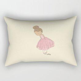 Shy Ballerina 1 Rectangular Pillow