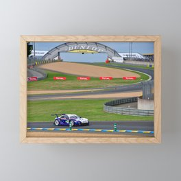 Sports car racing at 24 Hours of Le Mans 2018 Framed Mini Art Print