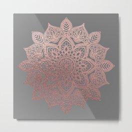 Rose Gold Mandala Metal Print