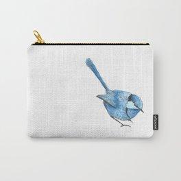 BLUE FAIRY WREN Carry-All Pouch