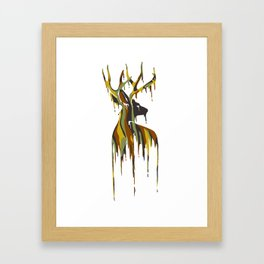 Painted Stag Framed Art Print