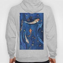 Koi fish in the water watercolor Hoody