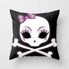 VelusaSkullie Throw Pillow