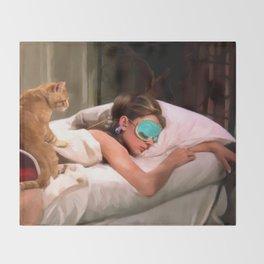Audrey Hepburn #4 @ Breakfast at Tiffany's Throw Blanket