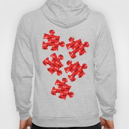 Tiny Dragonflies on red Hoody