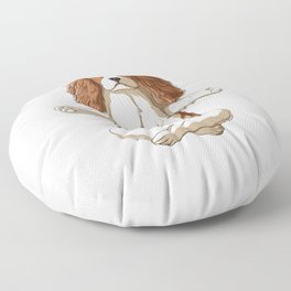 Yoga Cavalier King Charles Spaniel Floor Pillow