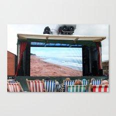 Watching the beach at Banksy's Dismaland Canvas Print