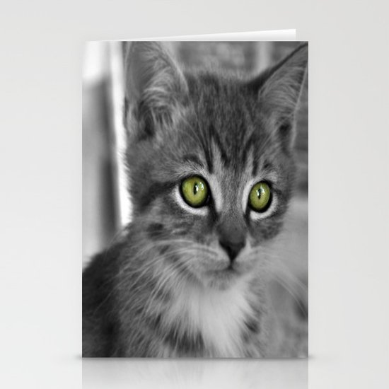 Through the eyes of a kitten Stationery Cards
