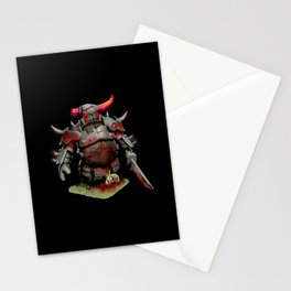 scarred pekka Stationery Cards