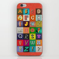 alphabet iPhone & iPod Skins featuring Alphabet by rob art | simple