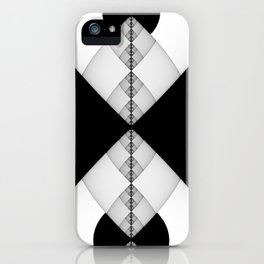 The Man In The Suit, Black and White Graphic Design iPhone Case