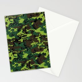camouflage pixels Stationery Cards