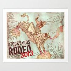 Cyber Rodeo 2 Art Print