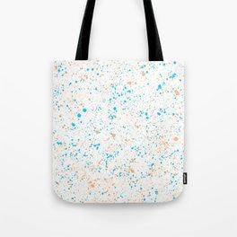 Splatter - Orange Blue Colorway Tote Bag