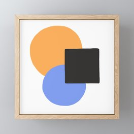 Complementary Equilibrium Framed Mini Art Print