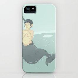 Narwhal Mermaid iPhone Case