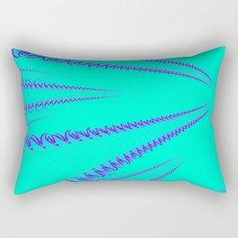 Blue triffid art Rectangular Pillow