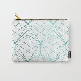 Geometric Turquoise Pattern Carry-All Pouch