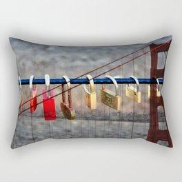 LOVE LOCKED - GOLDEN GATE BRIDGE Rectangular Pillow