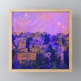 Jerusalem Joins the Galaxy Framed Mini Art Print