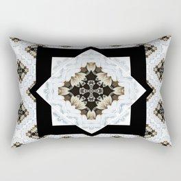 diamond cross pattern with borders Rectangular Pillow