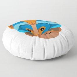 Rhesus Macaque Head Flat Icon Floor Pillow