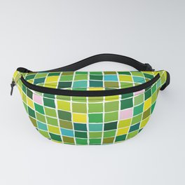 Colorful green color squares Fanny Pack