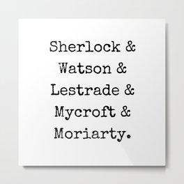 Guys of Sherlock Metal Print