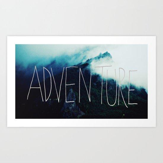 Adventure Mountain Art Print