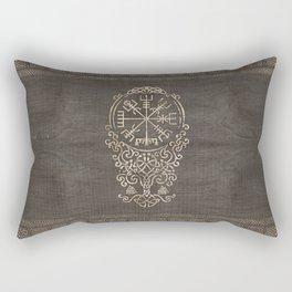 Vegvisir and Tree of life  - Yggdrasil Rectangular Pillow