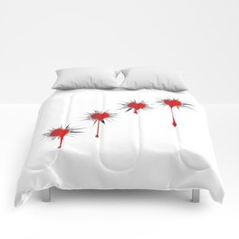 Blooded Bullet Holes Comforters