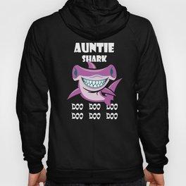 auntie shark doo doo doo pink ocean beach animals Gift Hoody