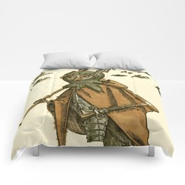 Owl dressed as a soldier Comforters