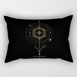 Pisces Zodiac Constellation Rectangular Pillow