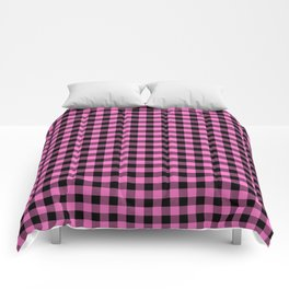 Classic Pink Country Cottage Summer Buffalo Plaid Comforters