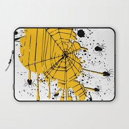 Spiderweb spiders ink splash Laptop Sleeve