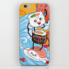 Surfin' sushi iPhone & iPod Skin