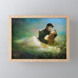 Royal couple in romantic lover's embrace Framed Mini Art Print