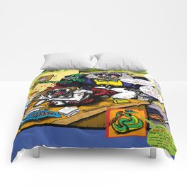 Bird of Steel Comix - Page #5 of 8 (Society 6 POP-ART COLLECTION SERIES)  Comforters