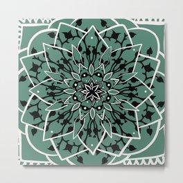 Succulent Star Design Metal Print
