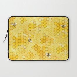 Meant to Bee - Honey Bees Pattern Laptop Sleeve