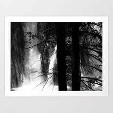 Places in Black & White: Burney Falls 16 Art Print