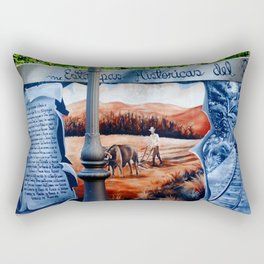 History on the wall @ Rincon Rectangular Pillow